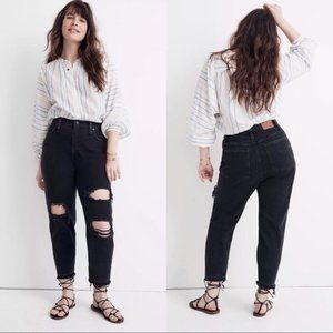 MADEWELL Momjean Raney Wash Knee Rip Jeans 30